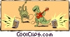 Vector Clip Art image  of a Party dinosaurs