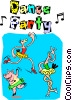 Dance Party Vector Clip Art picture