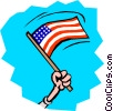 Vector Clip Art image  of a Memorial Day