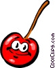 Cartoon cherry Vector Clipart illustration