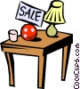 Garage sale Vector Clipart illustration