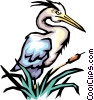 Vector Clip Art graphic  of a Cranes