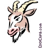Vector Clip Art image  of a Cartoon goat