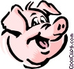 Vector Clipart illustration  of a Cartoon pig