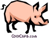 Vector Clipart illustration  of a Pig