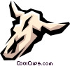 Vector Clip Art graphic  of a Cow skull