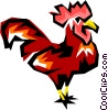 Vector Clip Art image  of a Rooster