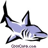 Vector Clip Art graphic  of a Shark