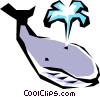 Vector Clipart picture  of a Whale