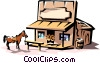 Western saloon Vector Clipart picture
