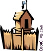 Vector Clip Art picture  of a Old fort