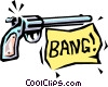 Vector Clip Art graphic  of a BANG!