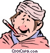 Vector Clipart picture  of a Cartoon patient
