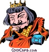 Vector Clip Art graphic  of a Cartoon King Arthur