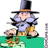 Vector Clipart graphic  of a Cartoon prospector