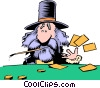 Cartoon prospector Vector Clipart illustration