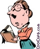 Vector Clipart image  of a Cartoon school teacher