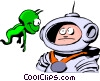 Vector Clip Art picture  of a Cartoon spacemen