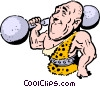 Cartoon circus performer Vector Clip Art picture