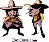 Vector Clipart graphic  of a Cartoon cowboys
