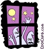 Vector Clipart graphic  of a Ghosts
