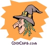 Vector Clip Art graphic  of a Wicked witches