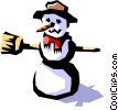 Snowman Vector Clipart graphic