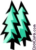 Vector Clipart image  of a Fir trees