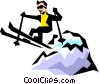 Vector Clipart illustration  of a Skier
