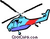 Cartoon helicopters Vector Clipart illustration