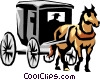 Horse drawn carriage Vector Clipart graphic