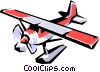 Vector Clipart illustration  of a Floatplane