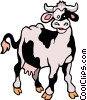 Vector Clipart illustration  of a Cartoon cow