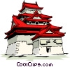 Pagoda Vector Clipart graphic