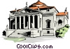 Vector Clip Art image  of a Villa Rotunda by Andrea