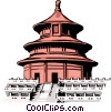Chinese building Vector Clipart image