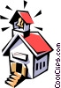 School house Vector Clipart illustration