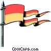 Cartoon flags Vector Clipart illustration