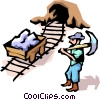 Vector Clipart graphic  of a Miner