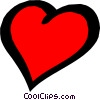 Symbol of a heart Vector Clip Art graphic