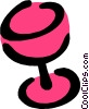 Wineglass Vector Clip Art graphic