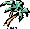 Vector Clipart graphic  of a Palm trees