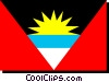 Antigua flag Vector Clipart illustration