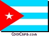 Vector Clipart illustration  of a Cuba flag