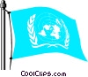 Vector Clip Art picture  of a United Nations flag