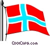 Vector Clip Art image  of a Norway flag