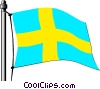 Sweden flag Vector Clipart picture