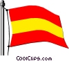 Spain flag Vector Clipart illustration
