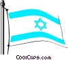 Vector Clipart picture  of a Israel flag