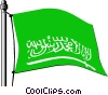 Vector Clip Art image  of a Saudi Arabia flag
